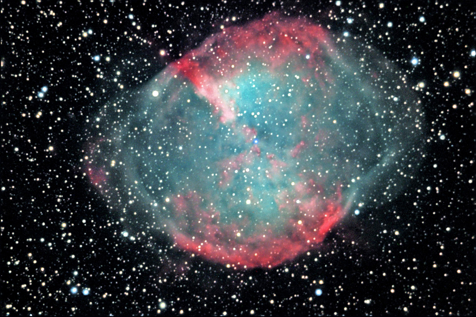 M27 in Velpecula The Dumbbell Nebula
